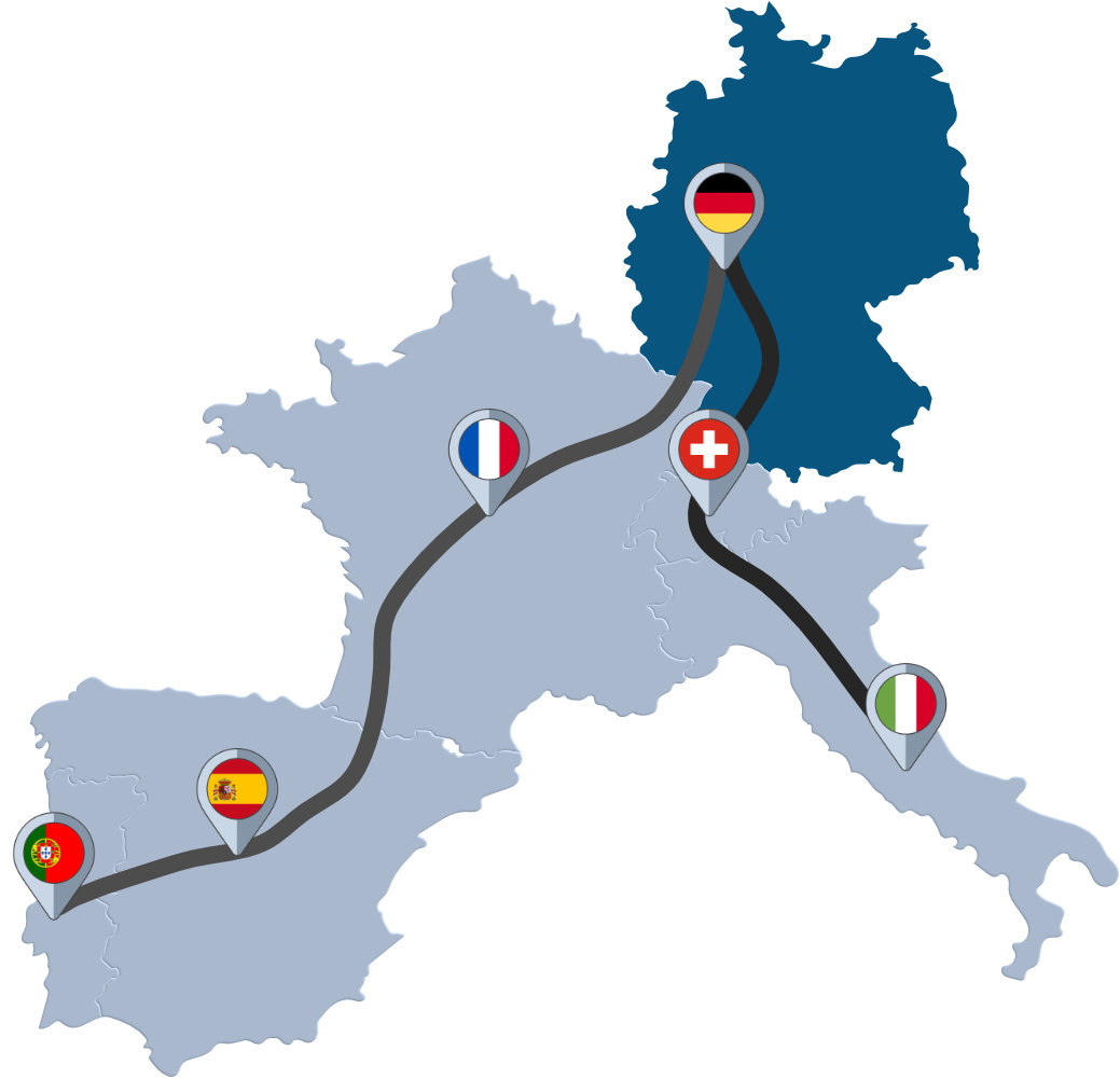 International freight forwarding - Germany, France, Spain, Portugal, Switzerland, Italy